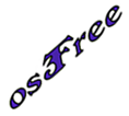 original osFree logo (white, small, diagonal)